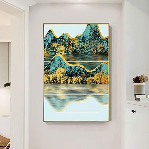 jiushice Famosa Cina Guilin Mountain Canvas NG Pop Paesaggio Stampa e Poster per Soggiorno corridoio Unico Cinese Wall Art Decor 50x70 cm