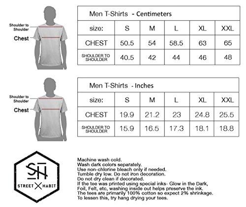 Herren T-Shirt mit Fiddler Psychodelischem Street Art Design Aufdruck - handgefertigt durch Siebdruck auf 100% Baumwolle - Street Habit Grau