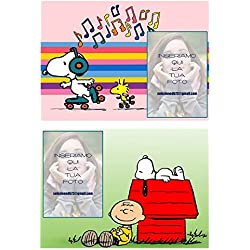 Set 2manteles individuales personalizadas Snoopy