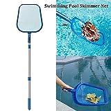 Lacyie Pool Leaf Skimmer Pool Netz reinigen Werkzeug mit Teleskopstange für Spa & Teich Reinigung Einheitsgröße a