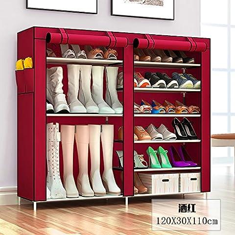 Scarpiere semplice ispessimento scarpiera antipolvere di multi-strato per rack di scarpe di stoccaggio per la casa