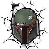 Star Wars Boba Fett 3D LED Wandlicht Deko Lampe Wandsticker