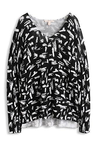 Esprit 124EE1I035 - Sweat-shirt - Uni - Manches longues - Femme Noir (Black)