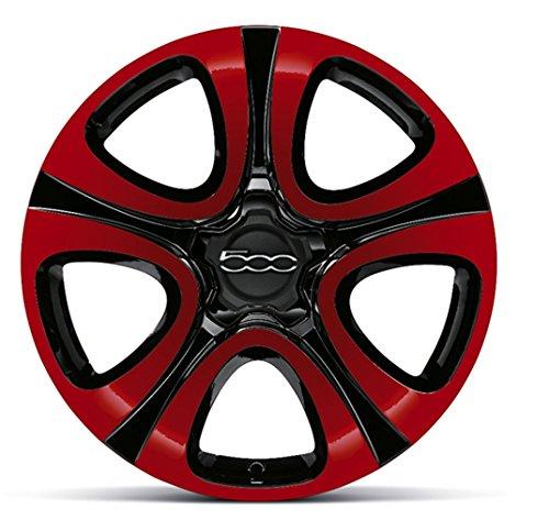 'Fiat 500X 18cerchi in lega delle ruote/Cerchi in Lega/set di cerchioni bicolor Rosso/Nero