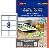 Avery Quick&Clean Visitenkarten doppelseitig bedruckbar für Tintenstrahldrucker 240 g/m²