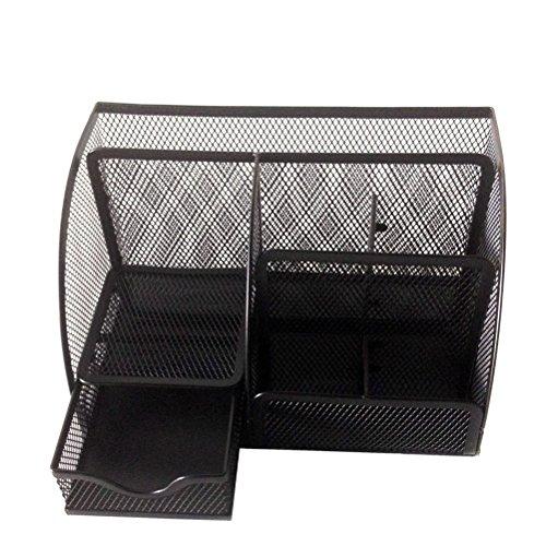 WINOMO Schreibtisch Organizer Tisch-Organiser Stifthalter Stifteköcher Stiftebox Mesh Briefpapier Container Veranstalter Caddy - 3