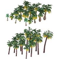 Sharplace 27 Piezas Modelo Mini Árbol Palmeras para Landscape Diorama Layout