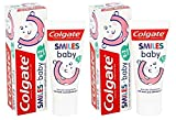 2x Colgate Smiles Baby 0 To 2 Year Old 50ml