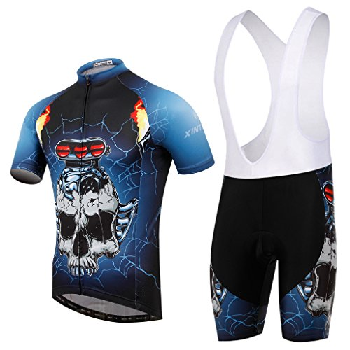 teyxoco-hombre-car-skull-ciclismo-gel-pad-bid-maillots-jersey-set-l
