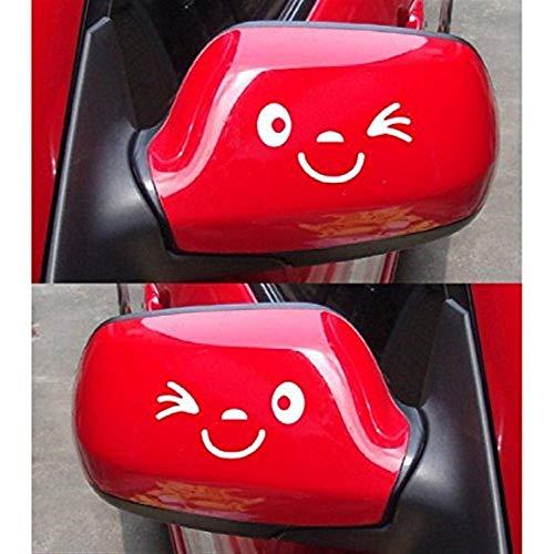 Haltbar Auto, lustig, reflektierend, Flügel, Tür, Spiegel, lustig, Aufkleber, Weiß -