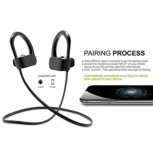 5cf2942b652 Acid Eye 4.1 Waterproof Wireless Bluetooth Earphones with Mic. Excite Deep  Bass Bluetooth Headphone (