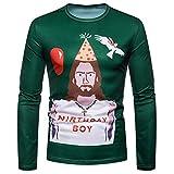 Uomo Cappotti Natale Maglione Stampa Inverno Uomo Cappotti E Giacche Lunghe Uomo Cappotti con Cappuccio di Pelliccia Casual Uomo Cappotto Qinsling