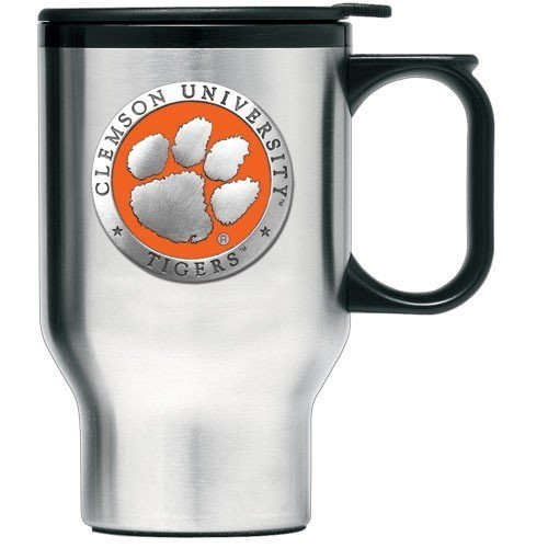Clemson Tigers Stainless Steel Travel Mug by Heritage Pewter