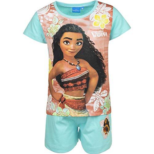 Vaiana - Zweiteiliger Schlafanzug Pyjamas für Mädchen - G-397 [Hellblau - 4 Jahre - 104 cm]