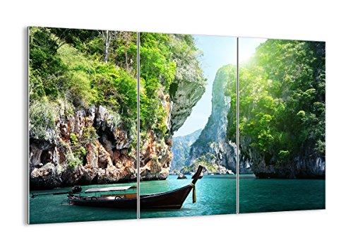 Glas-teil Drei (Bild auf Glas - Glasbilder - DREI Teile - Breite: 105cm, Höhe: 70cm - Bildnummer 2787 - dreiteilig - mehrteilig - zum Aufhängen bereit - Bilder - Kunstdruck - GCE105x70-2787)