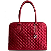 'Socha Business Notebook/Laptop Bolsa Red Diamond en rojo–para 14–15.6pulgadas Plus Accesorios–Chanel de Style–Varios compartimentos