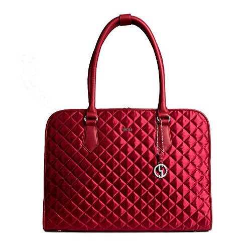 SOCHA SO-RED-DIAMOND Designer Business Tasche für Damen, 39,11 cm (15,6 Zoll) rot