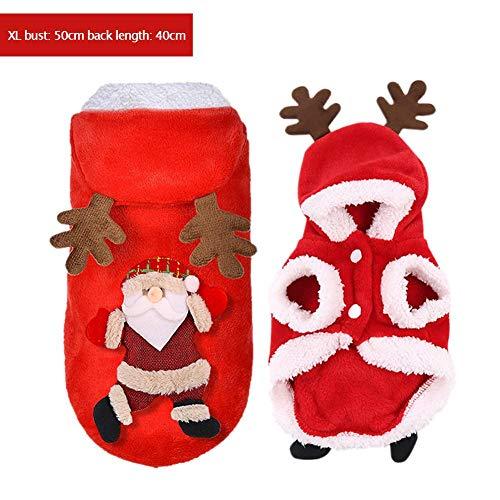 Kostüm Lustige Hirsch Machen - D.ragon Weihnachtskleidung auf Allen Vieren, Hundekleidung, Haustierkleidung, lustige Kleidung für Herbst und Winter