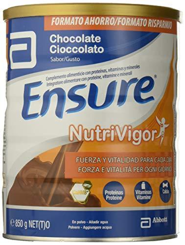 Ensure NutriVigor Integratore alimentare multivitaminico e sali minerali. Più energia con proteine, vitamina d e 1500 mg di HMB. Cioccolato - 850gr