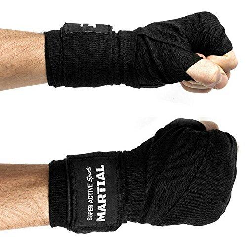Boxbandagen von MARTIAL mit bestem Klett und Daumenschlaufe. Bandagen ohne Ausleiern für MMA Boxen Kickboxen