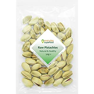 Raw Pistachios Nuts Unsalted unroasted and raw Pistachios in Shell Ideal for Mixed Nuts with Pistachio Snacks (50g)