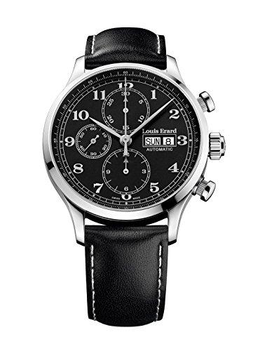 Louis Erard 1931 Automatik Uhr, Schwarz, Leder, Limitierte Ed, 78225AA22.BVA02