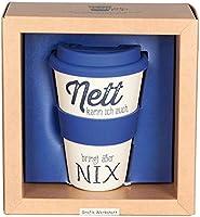 Grafik Werkstatt // Bambusbecher // Kaffeebecher // Coffee-to-Go // Trinkbecher // 400 ml // Bamboo-to-go // Nett bringt nix