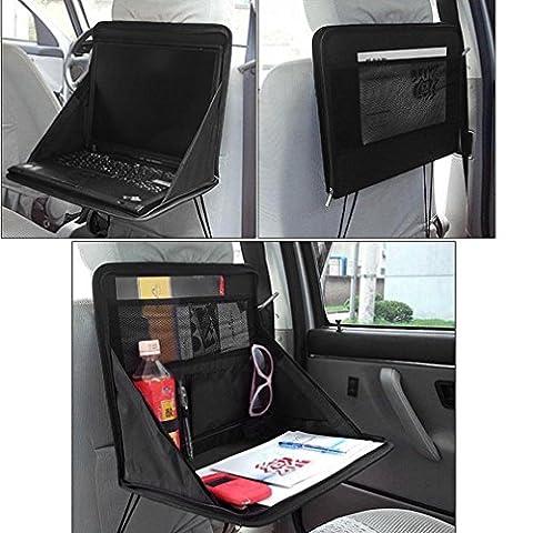 Table pliante Banquette arrière de stockage de rangement pour DVD support pour ordinateur portable Plateau de voyage–Open Taille: env. 38cm x 31cm x 29.5cm