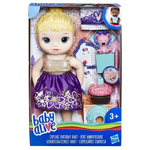 Hasbro Baby Alive E0596ES1 Geburtstagsspaß-Baby, Puppe (Baby Interaktive Alive Puppe)