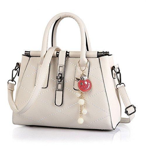 FavoMode, Borsa a mano donna bianco White Handbag White Handbag