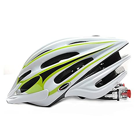 Premium Quality Airflow Bike Helmet For Road & Mountain Biking - Safety Certified Bicycle Helmets For Adult Men & Women, Teen Boys & Girls - Comfortable , Lightweight , Breathable ( Color : White green )