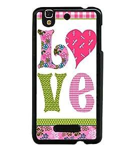 Fuson Designer Back Case Cover for YU Yureka Plus :: Yu Yureka PlusYU5510A (Pyar ishq prem heart flower )