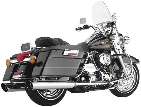 Cobra 4 Inch Slip On Slashdown Chrome Muffler for Harley Davidson FL Touring Mo