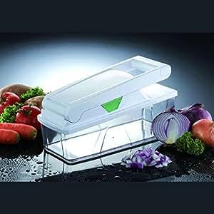 BAUMALU - Coupe-légumes 3 grilles avec boite plastique *