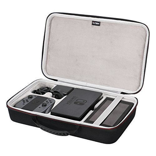 LTGEM EVA Hart Tasche Case für Nintendo Switch & Accessories. Fits Joy-Con/Power Adapter/Dock/Grip Storage Dock Box