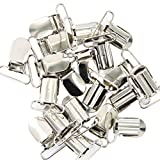 20pcs Hosenträgerclips Schnuller Klammer Bettuchspannerclips Silber 25mm