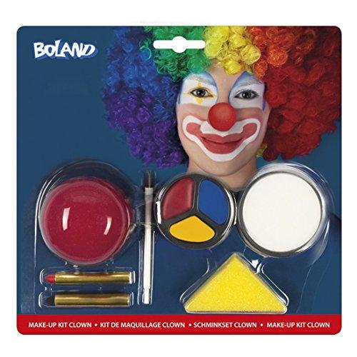 m Schminkset Clown, Mehrfarbig (Halloween Verbrannten Gesichts-make-up)