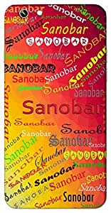 Sanobar (Palm tree) Name & Sign Printed All over customize & Personalized!! Protective back cover for your Smart Phone : Moto G2 ( 2nd Gen )