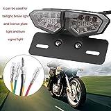 LED Motorrad Rücklicht Motorrad Bremse Bright Kennzeichenbeleuchtung Rücklicht Lampe integrierter Spot Signal