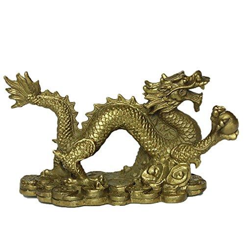 Begriff Messing handgemachte chinesische Geld Dragon Statue Home Dekoration Geschenk BS270