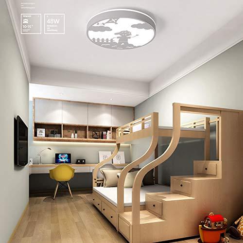 SUNA Plafonnier LED, Salon Minimaliste Moderne, Chambre à Coucher, Salle à Manger, Décoration Lumineuse éclairage De La Chambre D'enfant, Rond [classe énergétique A ++]