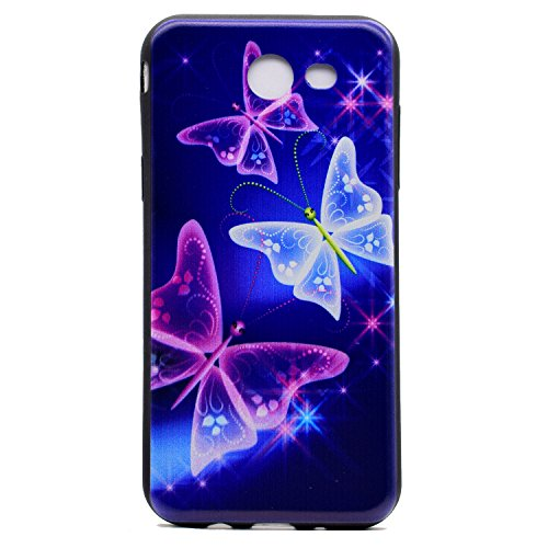 Coque Samsung Galaxy J5 2017 Bumper,Galaxy J5 2017 Housse de Protection,Ekakashop Ultra Slim-fit TPU Silicone Crystal Clair Souple Gel Housse Coque Protecteur Back Cover Defender Flexible Case Etui No Étoile Ciel Papillon