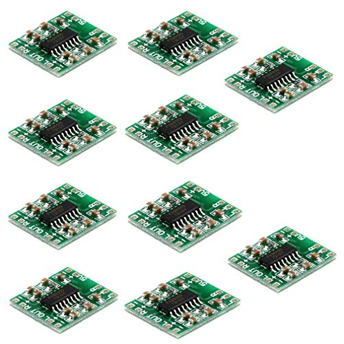 HiLetgo 10pcs Super Mini PAM8403 Digital Power Amplifier Board 2 * 3W Clase D 2.5-5V USB Power