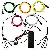 Elektrolumineszenz-Draht (EL Wire) 1 Meter Glowing Strobing Neon Light Set Lightpainting Kit-Use EL-Draht mit einer Kamera zu malen Photo Effects