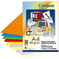 Campus University XL Paper - Papel color, paquete 100 hojas, A4, surtidos