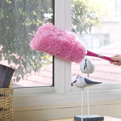 DADAO-La poussière de fibre superfine flexible de nettoyage domestique Shan duster voiture frêne,lavable rouge