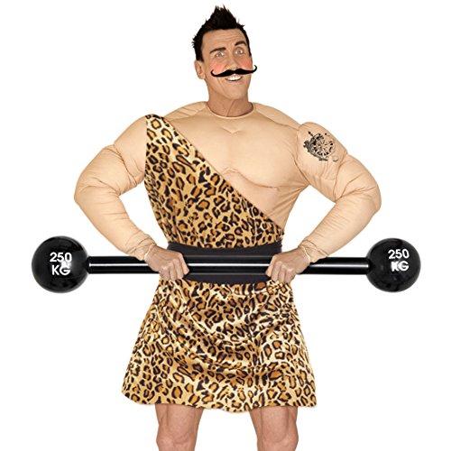 Langhantel aufblasbar Hantel zum Aufpusten Bodybuilder Kostüm Zubehör Gewichtheber Accessoire Kunststoffhantel Plastikhantel (Bodybuilder Kostüme Aufblasbare)