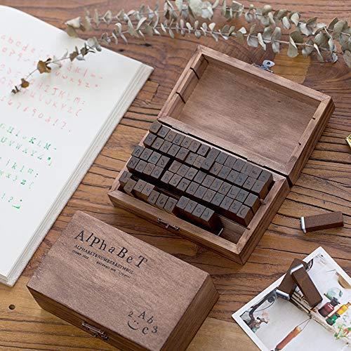 Caja de 70 sellos alfanuméricos de madera Aibecy por sólo 8,39€ con el #código: B2XSS7YO