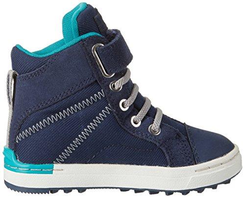 Viking Sagene Mid, Chaussures Multisport Outdoor mixte enfant Blau (Navy/Green)