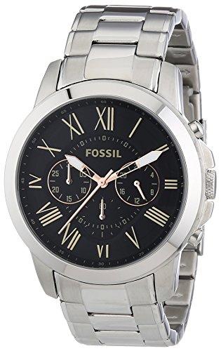 Fossil Herren-Armbanduhr XL Chronograph Quarz Edelstahl FS4994